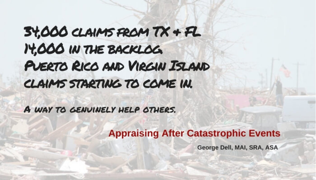 Feature picture of blog post, Appraising after Catastrophic Events